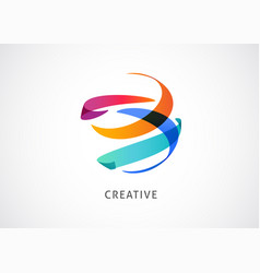 creative digital abstract colorful icon element vector image