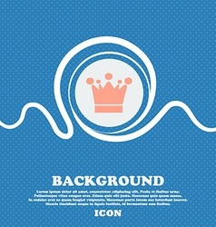 Crown icon sign blue and white abstract background vector