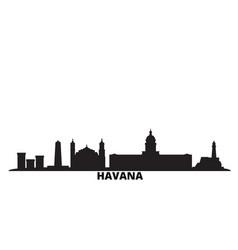 Cuba havana city skyline isolated vector