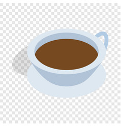 Cup of tea isometric icon vector