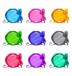 Cute colorful cartoon round buttons vector image