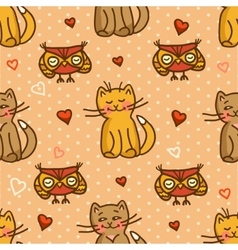 Cute valentines seamless background vector