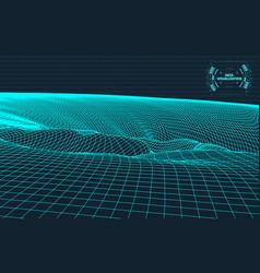 data visualization background futuristic design vector image