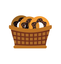 donuts basked vector image