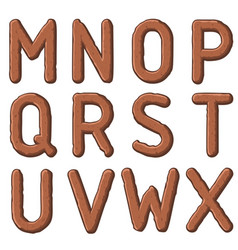 earth carved letters vector image