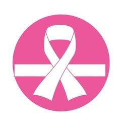 emblem breast cancer defense design vector image