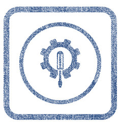 engineering fabric textured icon vector image