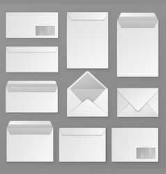 Envelopes blank corporate closed and open vector