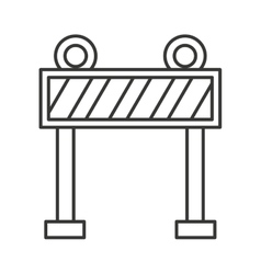 fence light construction icon vector image