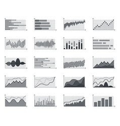 financial market information business graphs vector image