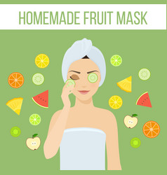 fruit mask vector image
