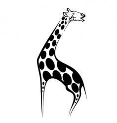 Giraffe mascot vector