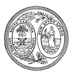 Great seal of the state of south carolina vector
