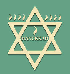 hanukkah candles vector image