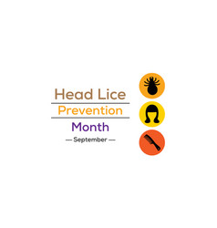 head lice prevention month vector image