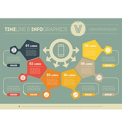 Infographic of technology or education process Web vector
