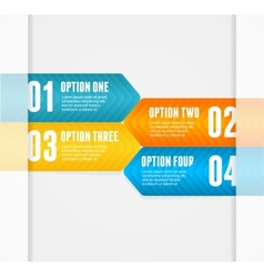 infographics options banner 1 2 3 4 vector image