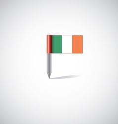 Ireland flag pin vector