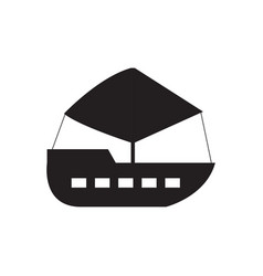 isolated ship toy icon vector image