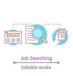 Job searching concept icon vector