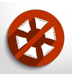 loudspeaker web flat icon vector image