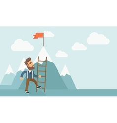Man with a ladder vector