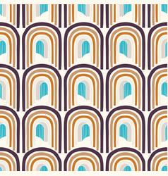 Mid century modern vintage pattern background vector