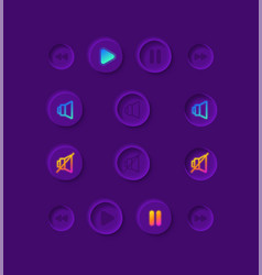 music player ui elements kit vector image