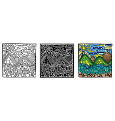 page coloring book for print with options picture vector image