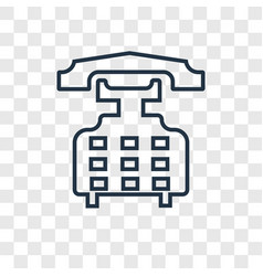 phone call concept linear icon isolated on vector image