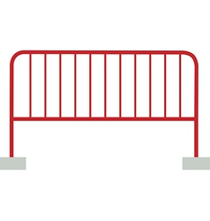 Red barrier vector image