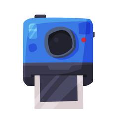 retro camera printing image summer vacation vector image