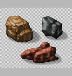 Rock stones collection vector