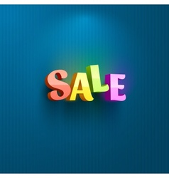 Sale placard for advertising vector