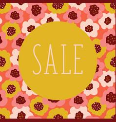 sale poster floral background coral vector image