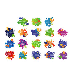 set 9 abstract bubbles with place for vector image