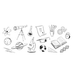 set science objects vector image