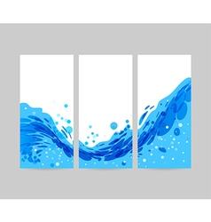 Set wave background brochure design vector image