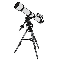 Small astronomic telescope vector