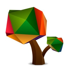 Stylized Low Poly Tree vector
