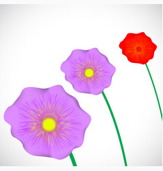stylized purple flowers vector image