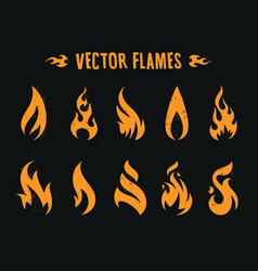 vector fire icons vector image