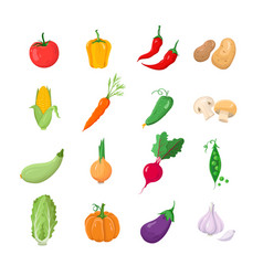 vegetables - modern icons set vector image