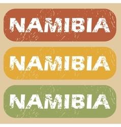 Vintage Namibia stamp set vector