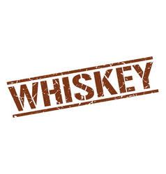 Whiskey stamp vector