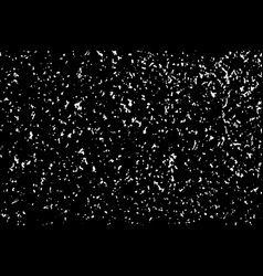 White grainy texture isolated on black background vector