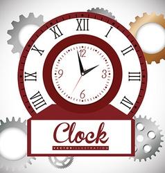 Clock design vector image