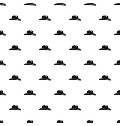 Cowboy hat pattern simple style vector image