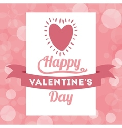 happy valentines day design vector image vector image