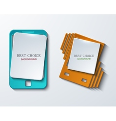 modern smartphone banners set vector image